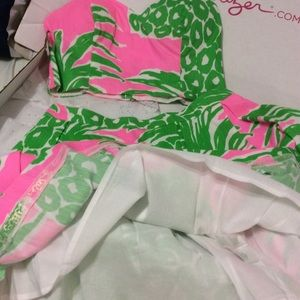 Lilly Pulitzer Dresses - Lilly Pulitzer Parfait pineapple Crop and top set